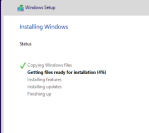 Installing Windwos